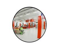 Зеркало для помещений круглое на гибком кронштейне 400 мм